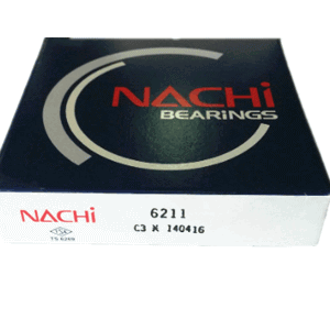NACHI Logo 6211 Open NACHI Radial Bearing 55x100x21mm