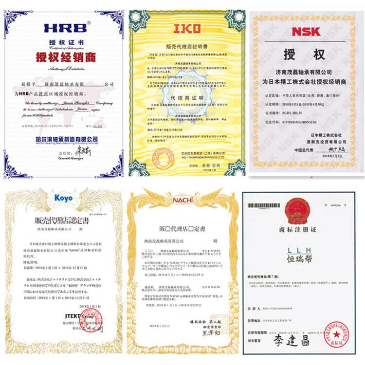 bearing certificate