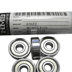 NMB jewel bearing design 626 ball bearing cage design