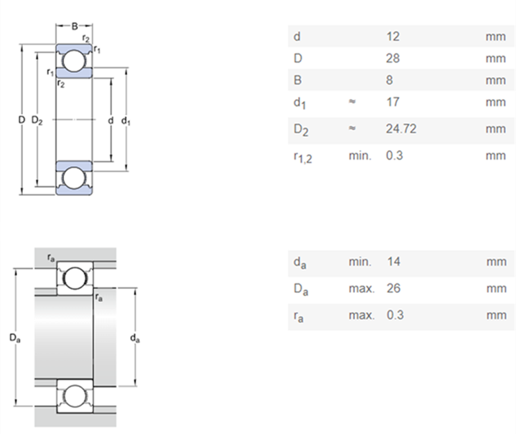 skf bearing number specification