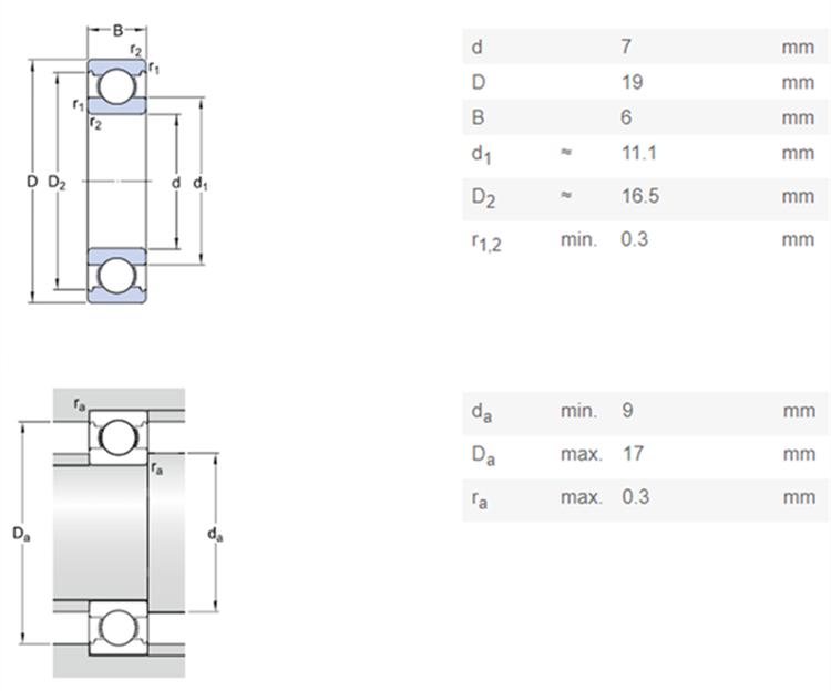 7mm ball bearing 607 skf bearing catalogue pdf