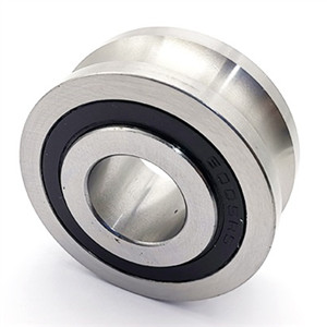 Different material for u groove roller bearing