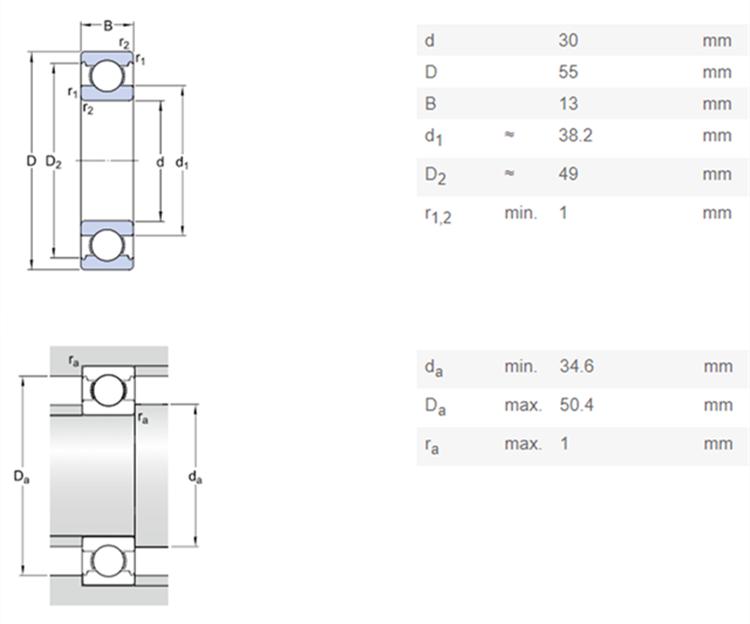 sealed ball bearing dimensions