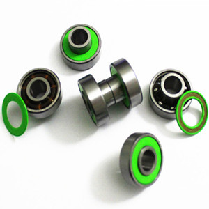 How did the newcomer to foreign trade get the order for roller skate bearings?