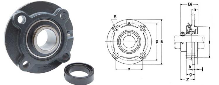 round flange bearing
