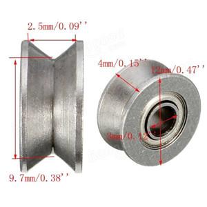 v groove guide rail V623ZZ v slot bearing for rail track linear motion system 3x12x4mm
