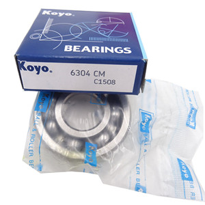 Supply koyo 6304 open type bearing ball price 6304CM 20*52*15mm