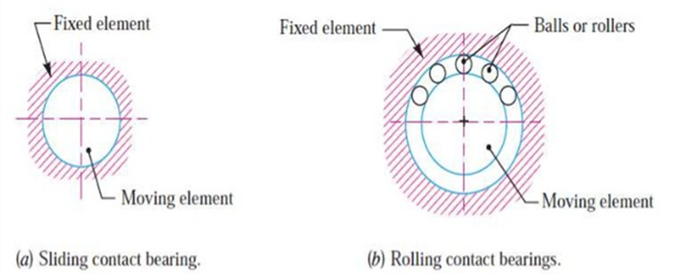 sliding and rolling contact bearing