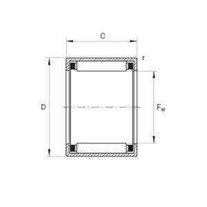 INA drawn cup needle roller bearing HK 3016-B