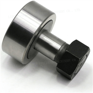 Cam with roller follower bearing detail