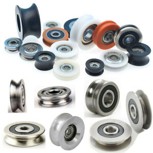 Grooved wheels with bearings details